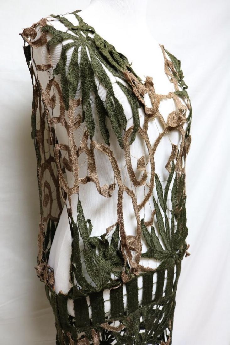 Late Edwardian open silk knit dress - 2