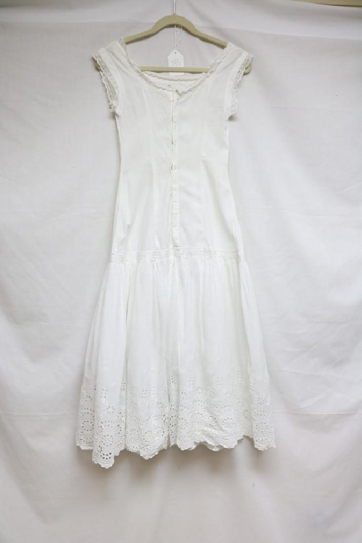 Edwardian eyelet & lace dress
