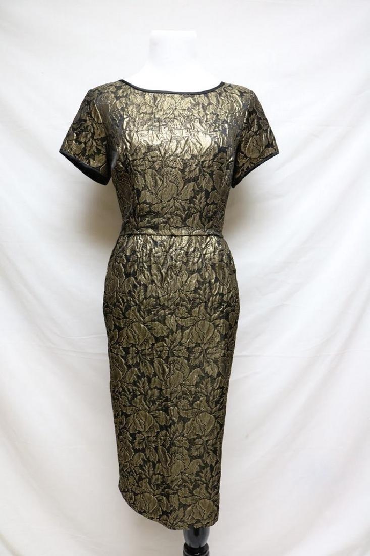 1960s metallic brocade dress