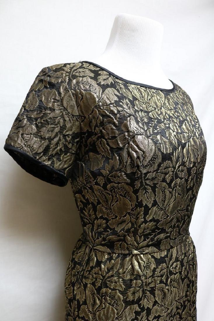 1960s metallic brocade dress - 2