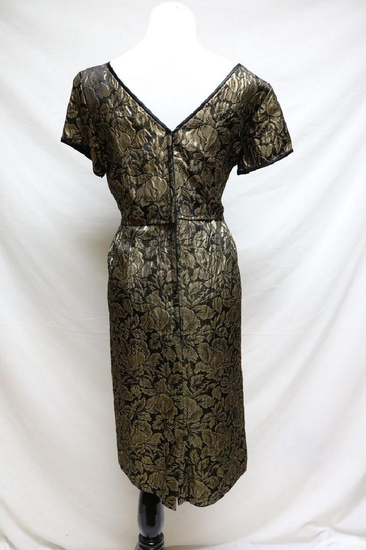 1960s metallic brocade dress - 3
