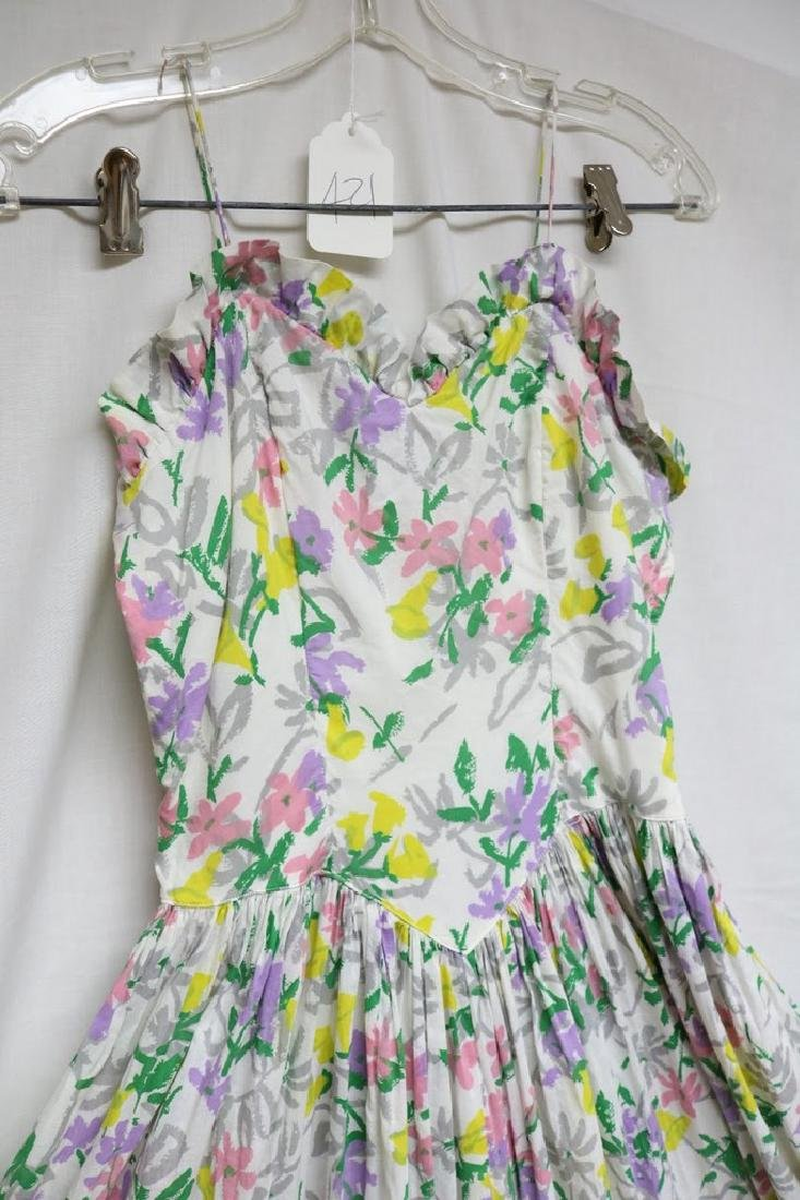 1940s floral cotton maxi dress - 2
