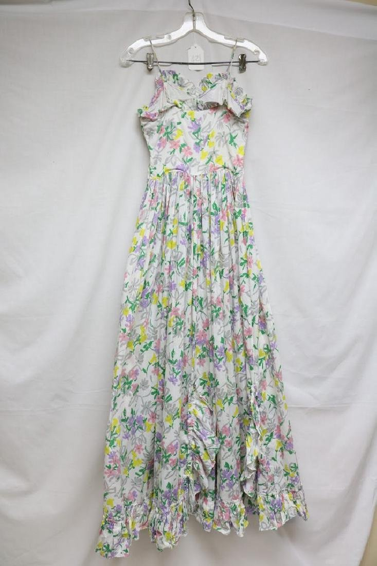 1940s floral cotton maxi dress - 3