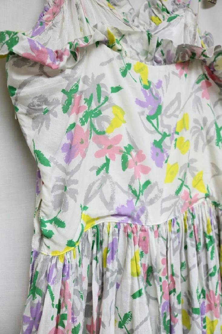1940s floral cotton maxi dress - 4