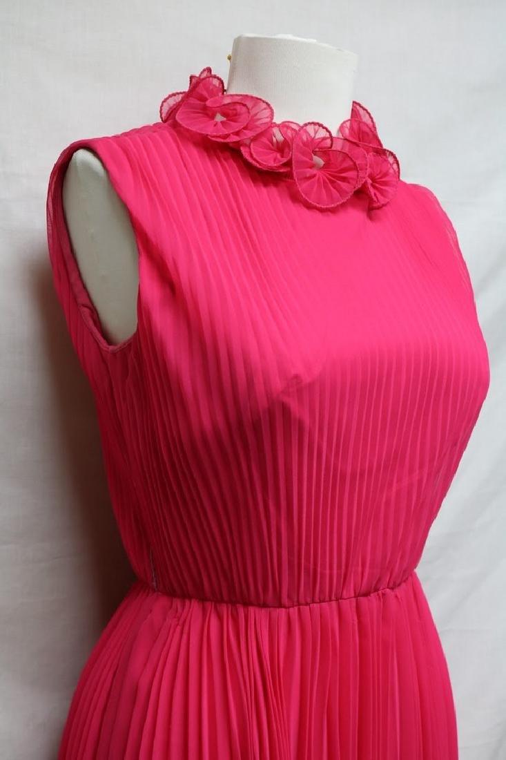 1960s chiffon pleated party dress - 2