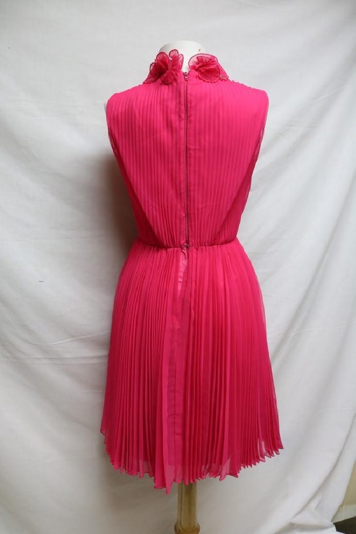 1960s chiffon pleated party dress - 3