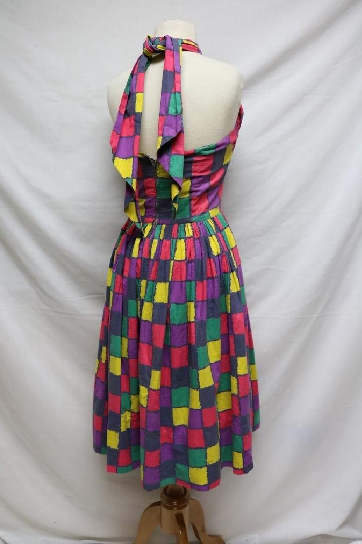 1950s checkered halter dress - 3