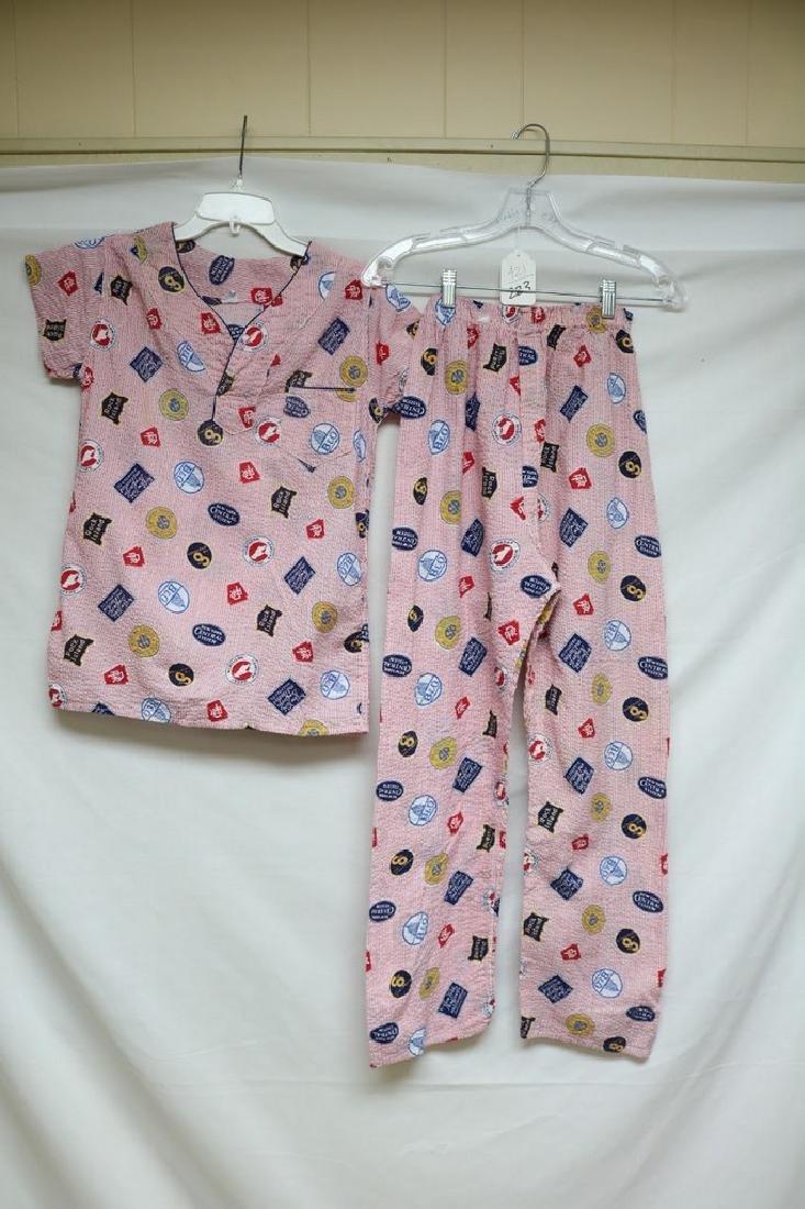 1950s boy railroad pajamas