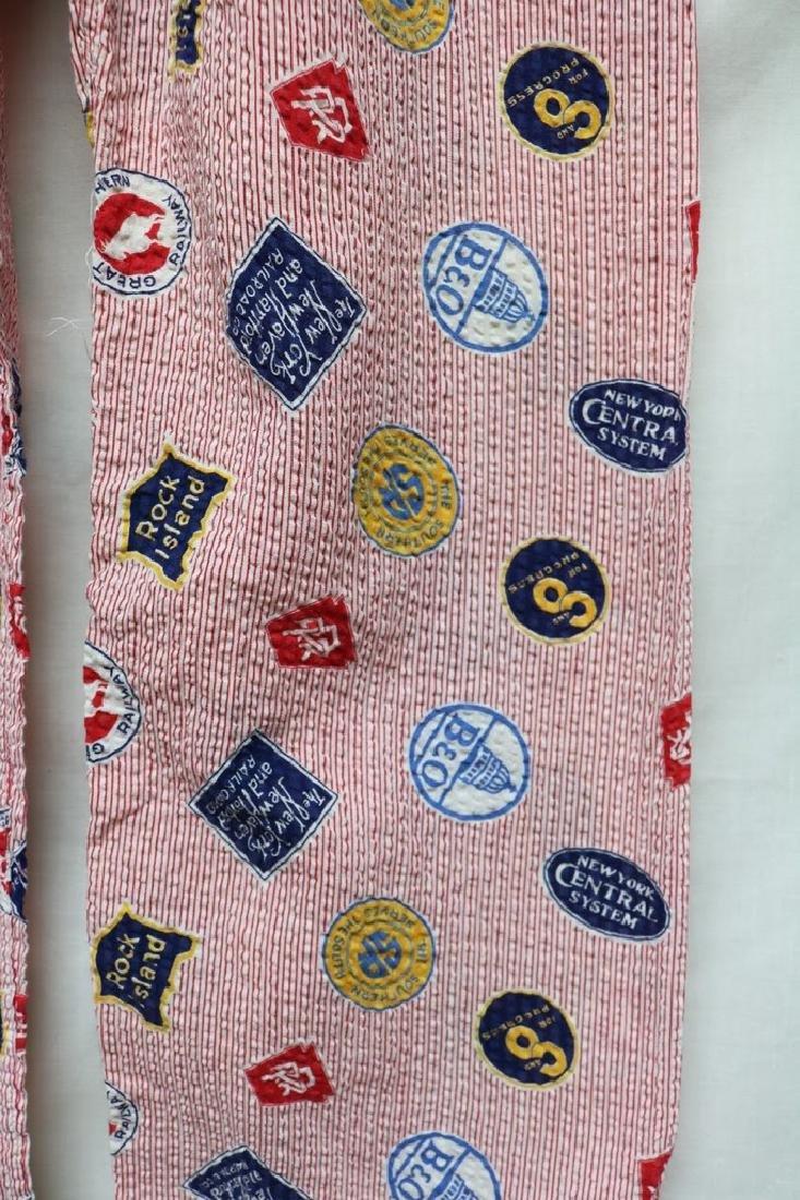 1950s boy railroad pajamas - 4