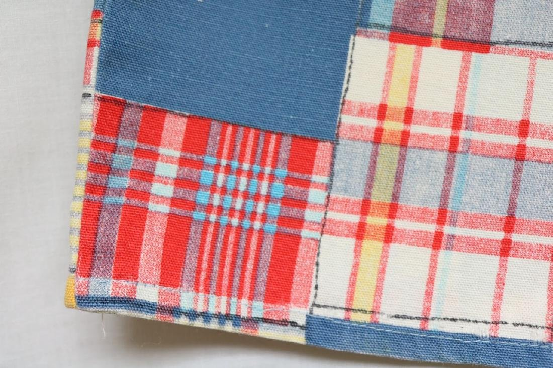 1960s patch plaid cotton shorts - 2