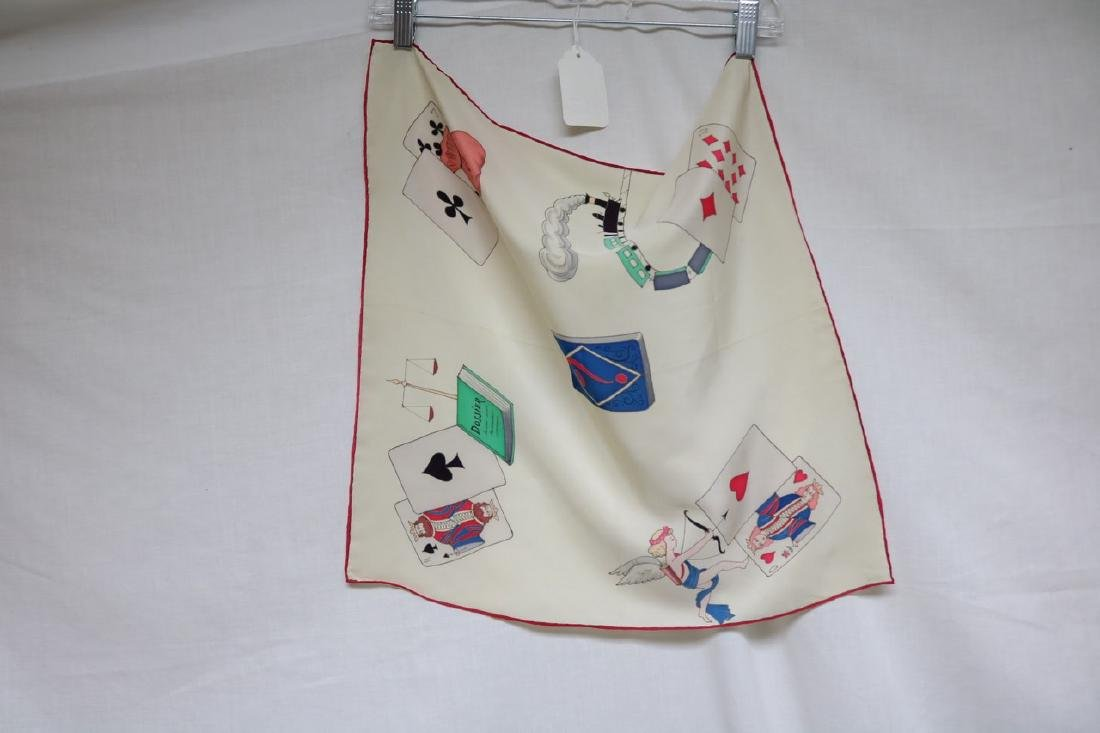 1940s playing card novelty silk scarf