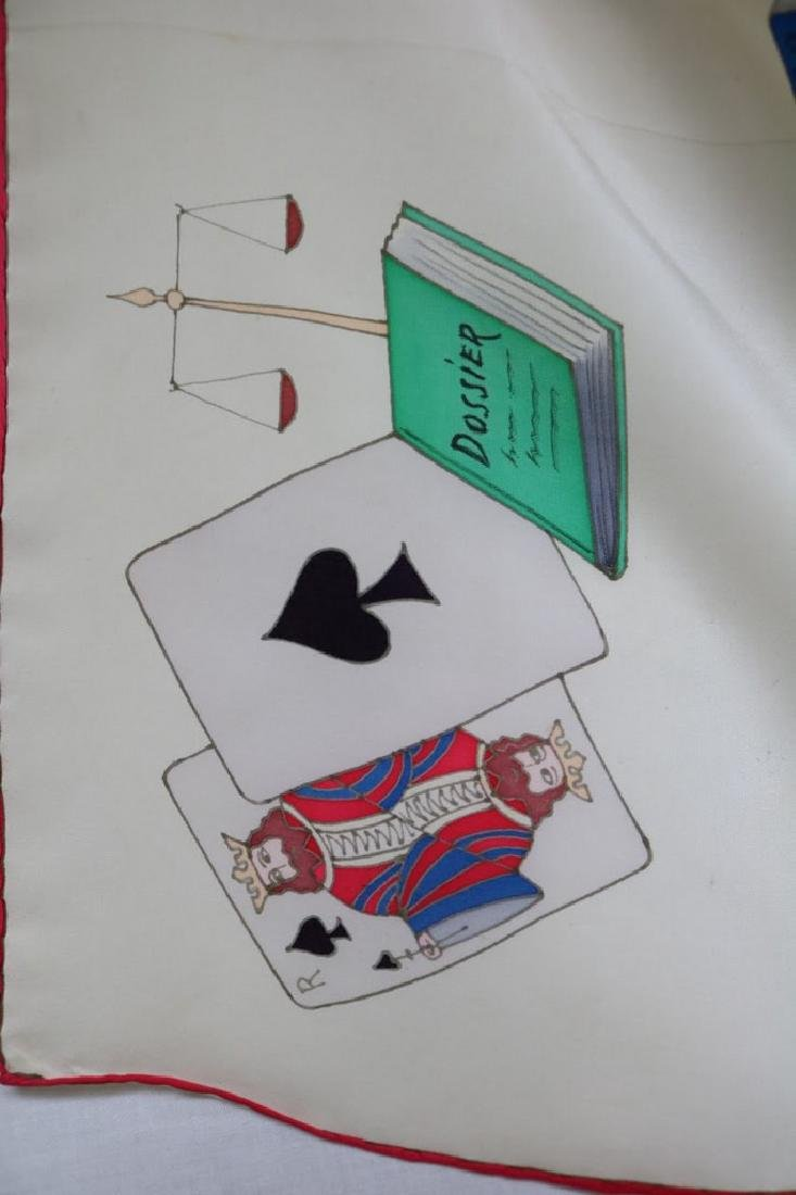 1940s playing card novelty silk scarf - 2
