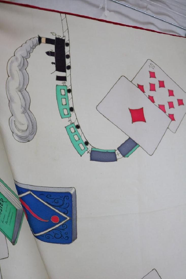 1940s playing card novelty silk scarf - 4