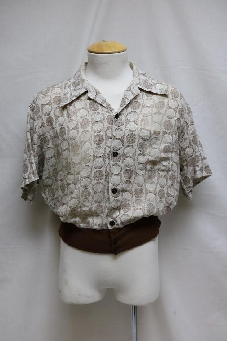 1960s mens polka dot shirt