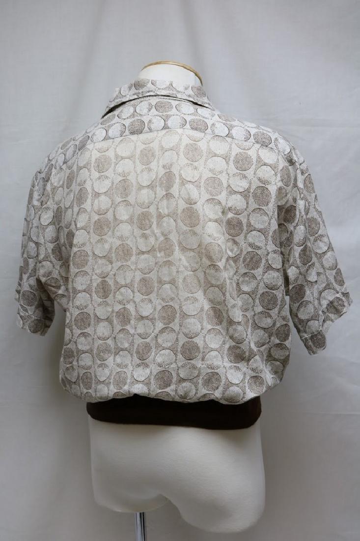 1960s mens polka dot shirt - 3