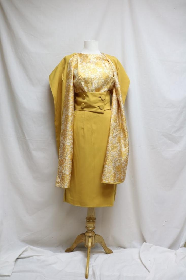1960s swirl dress with matching shawl