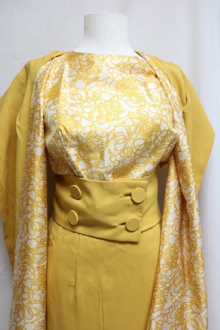 1960s swirl dress with matching shawl - 2