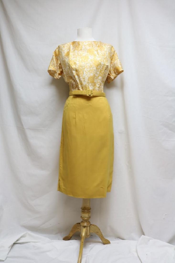 1960s swirl dress with matching shawl - 3