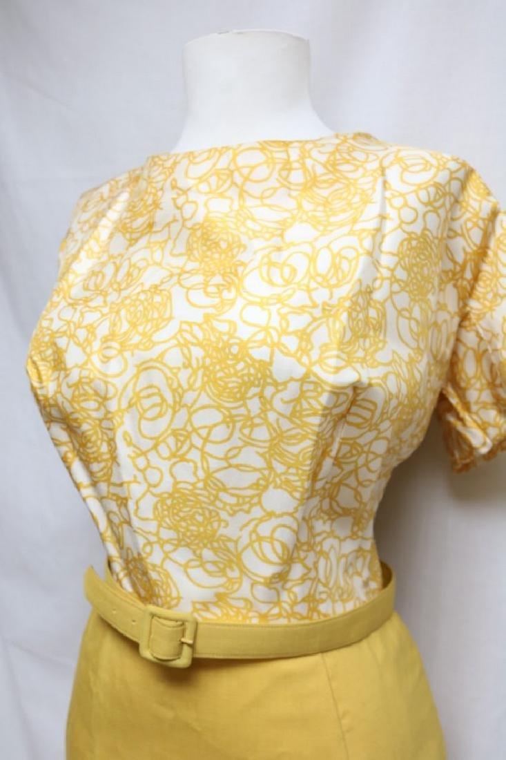 1960s swirl dress with matching shawl - 4