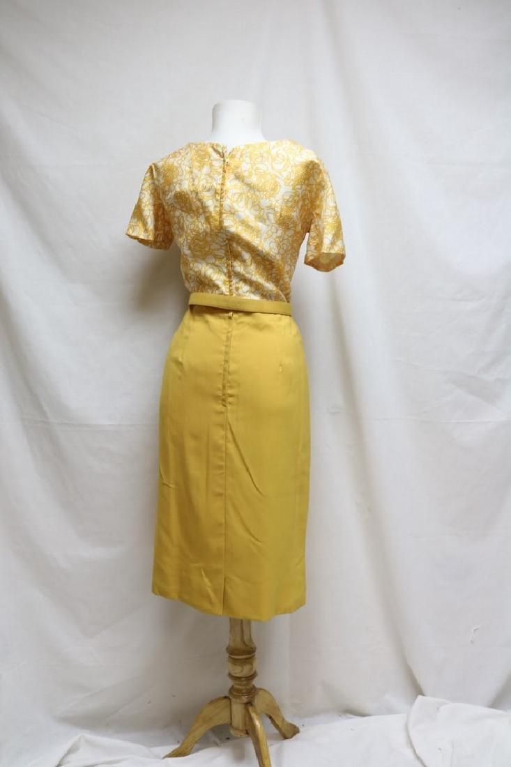 1960s swirl dress with matching shawl - 5