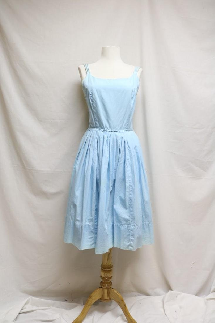 1960s blue cotton sundress
