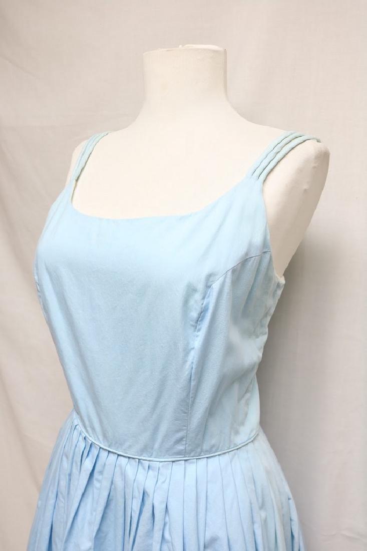 1960s blue cotton sundress - 2