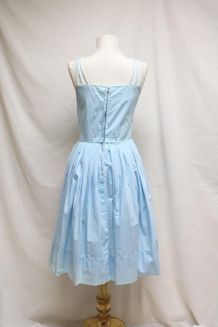 1960s blue cotton sundress - 3