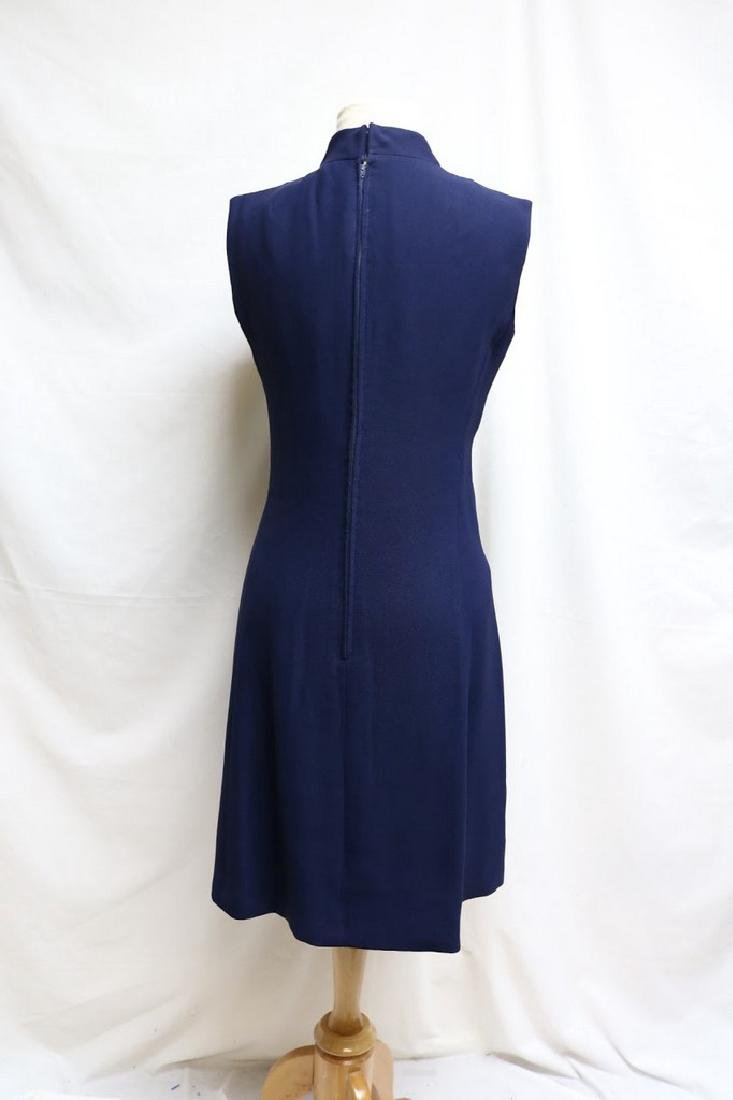 1960s rayon shift dress - 3