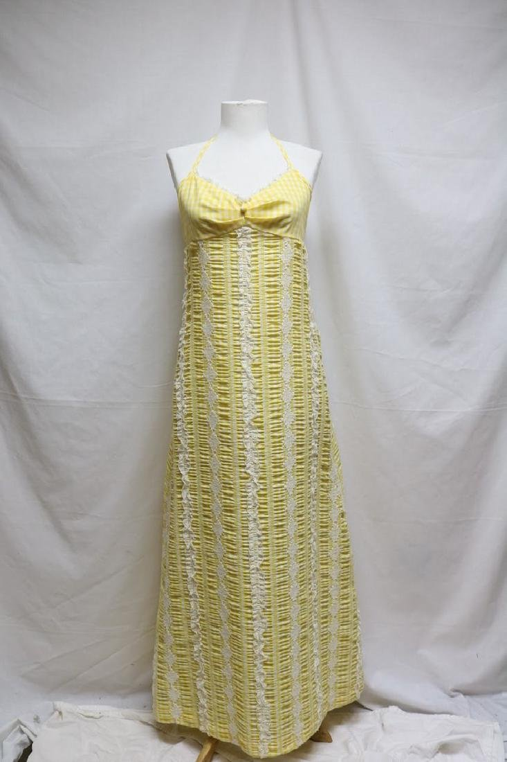 1970s Gingham Halter Dress