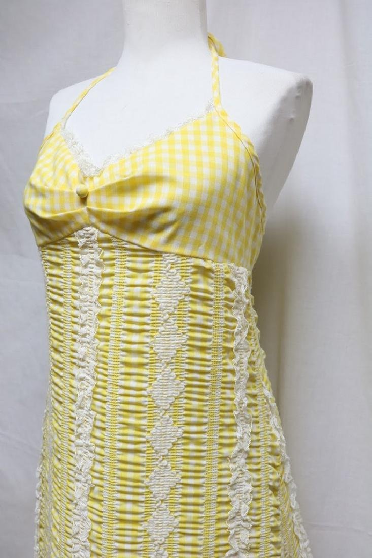 1970s Gingham Halter Dress - 2