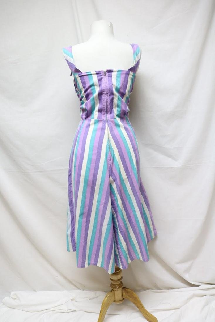 1940s striped cropped overalls - 3