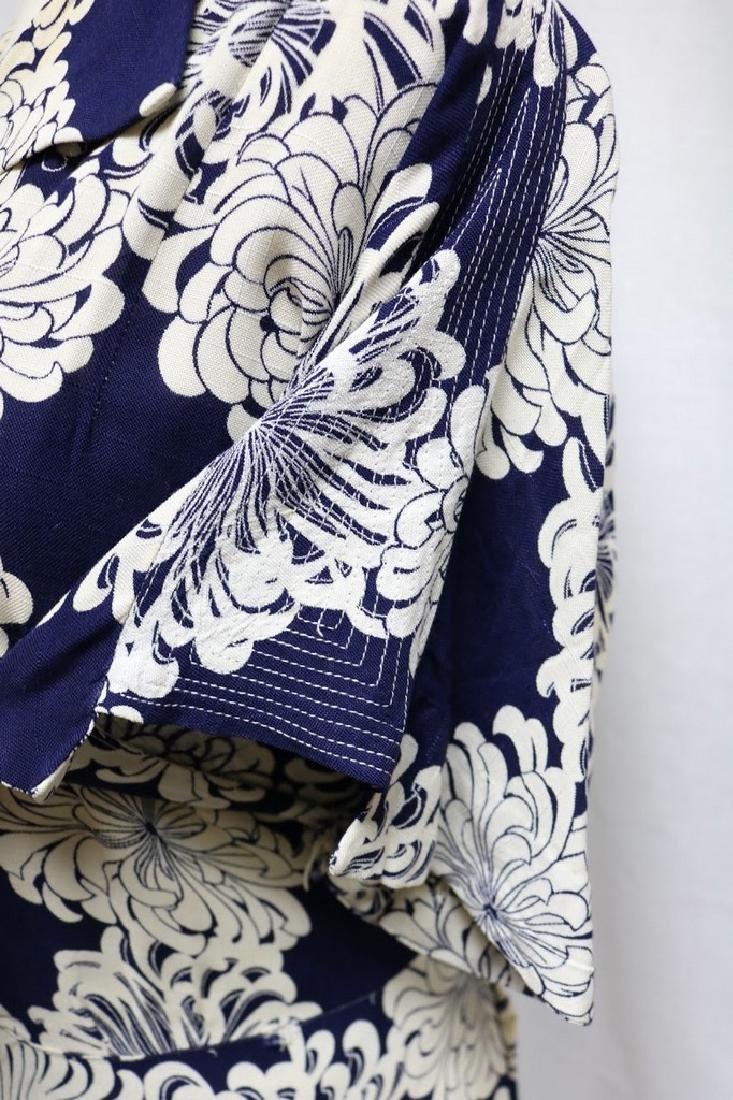 1930s linen floral dress - 3