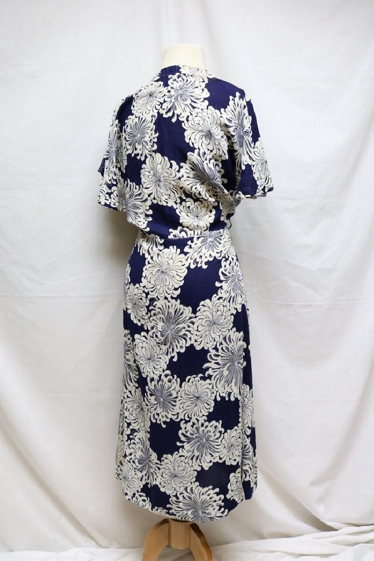 1930s linen floral dress - 4