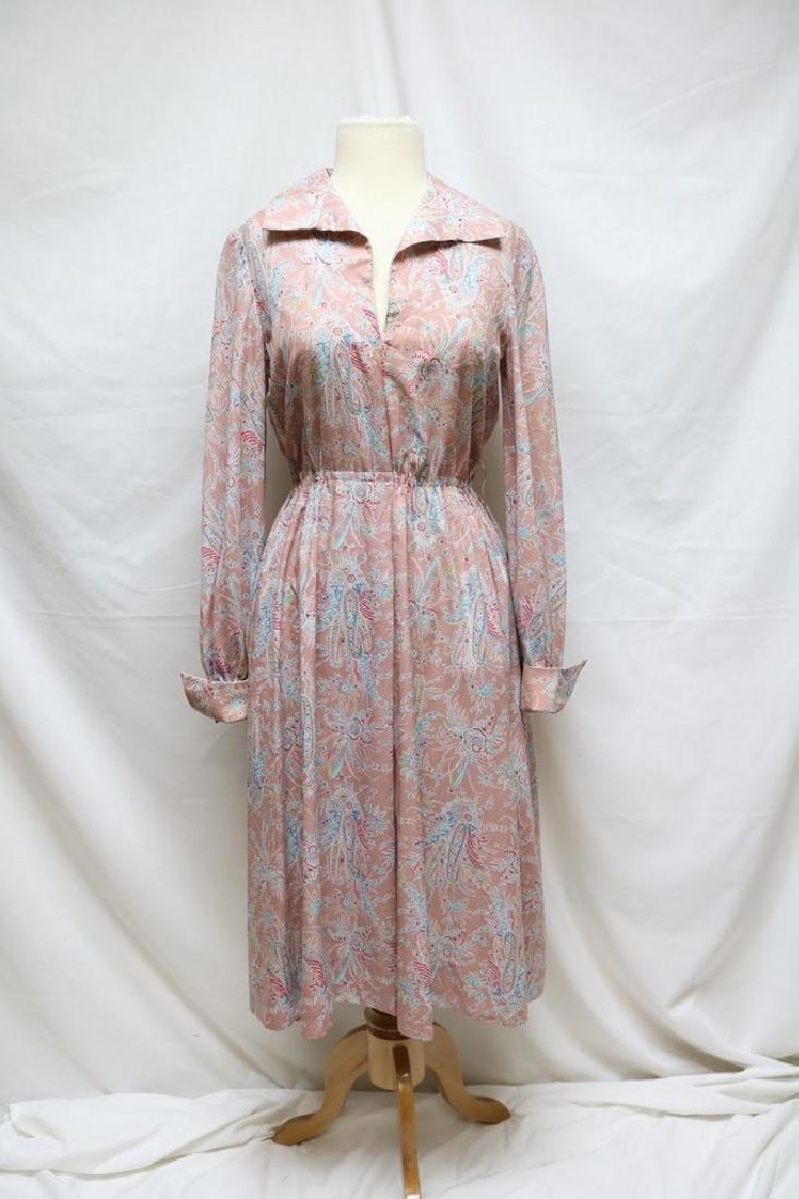 1970s silk paisley jerry silverman dress