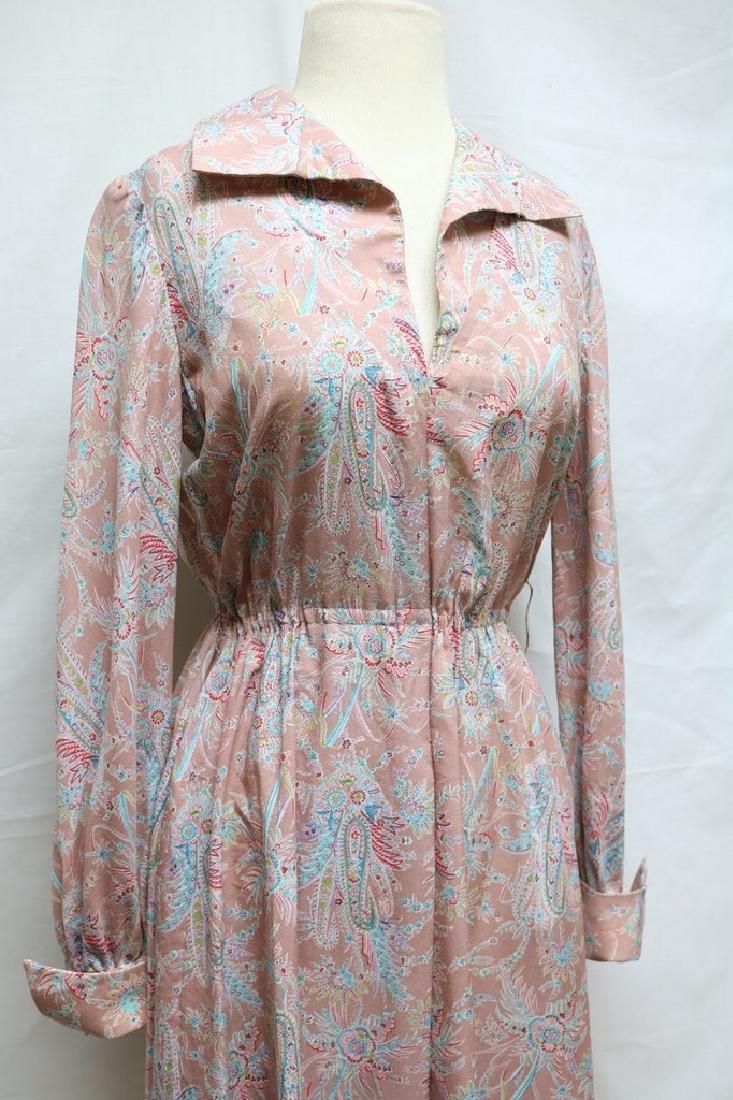 1970s silk paisley jerry silverman dress - 2