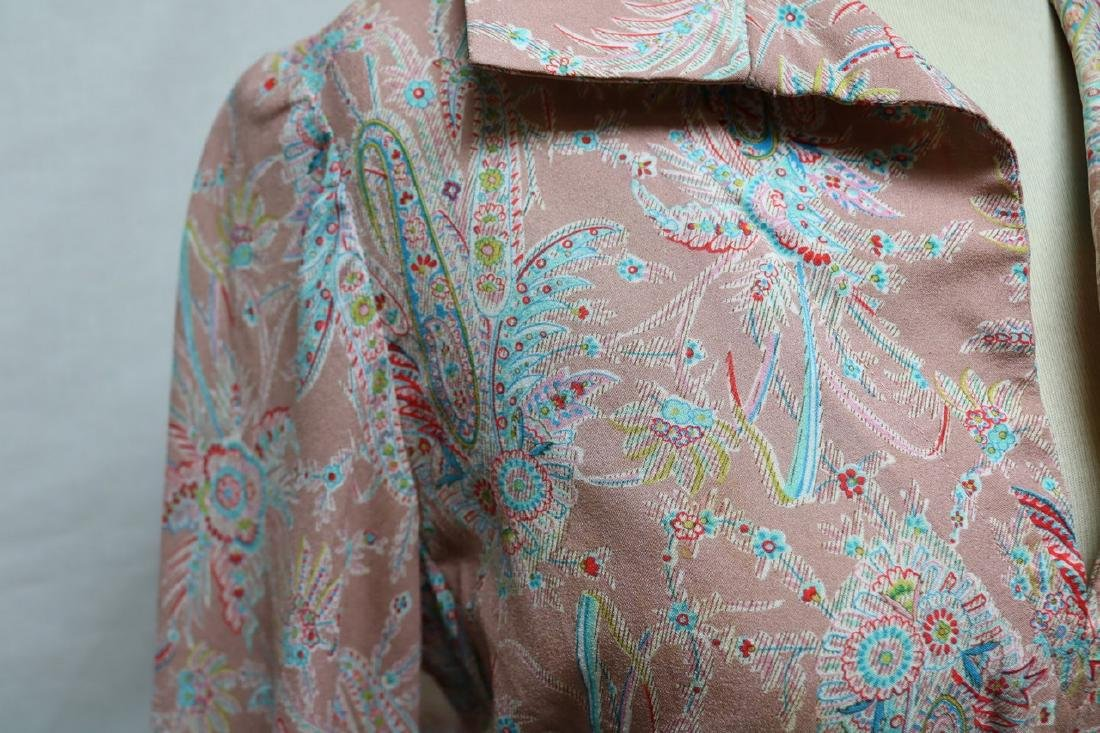 1970s silk paisley jerry silverman dress - 3