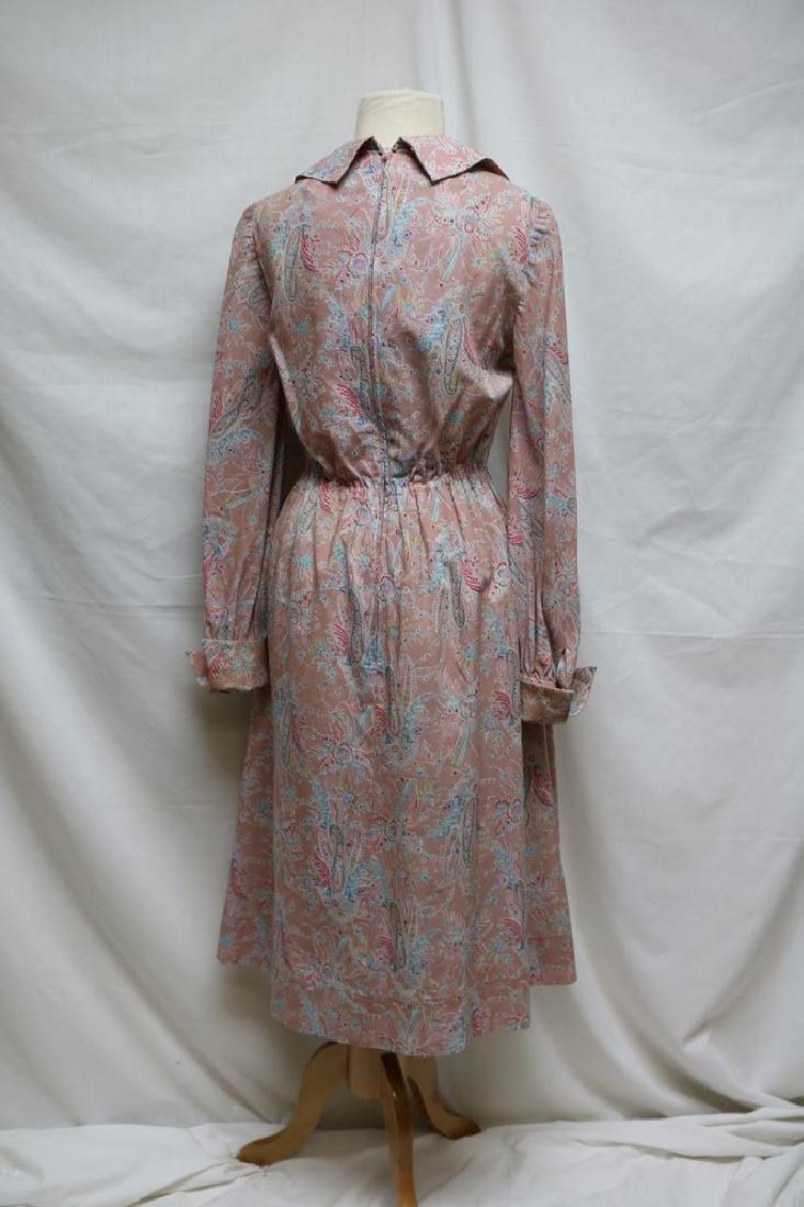 1970s silk paisley jerry silverman dress - 4