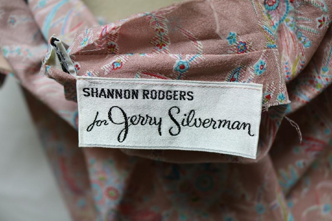 1970s silk paisley jerry silverman dress - 5