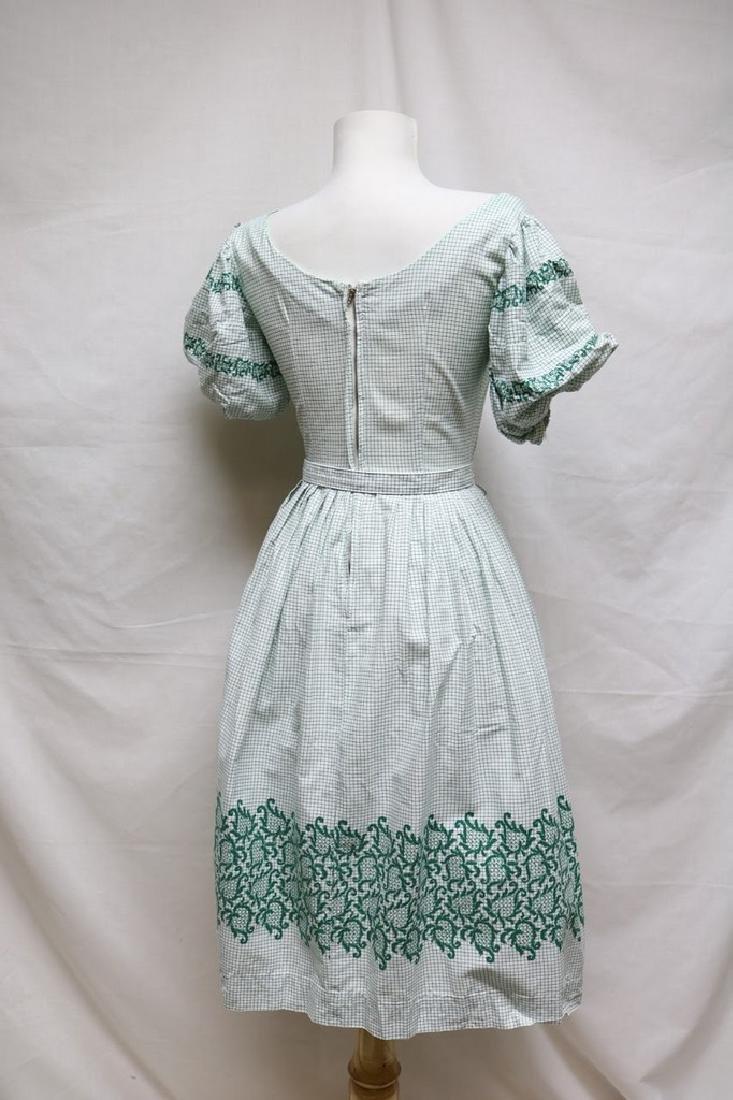 1940s grid & floral dress - 4