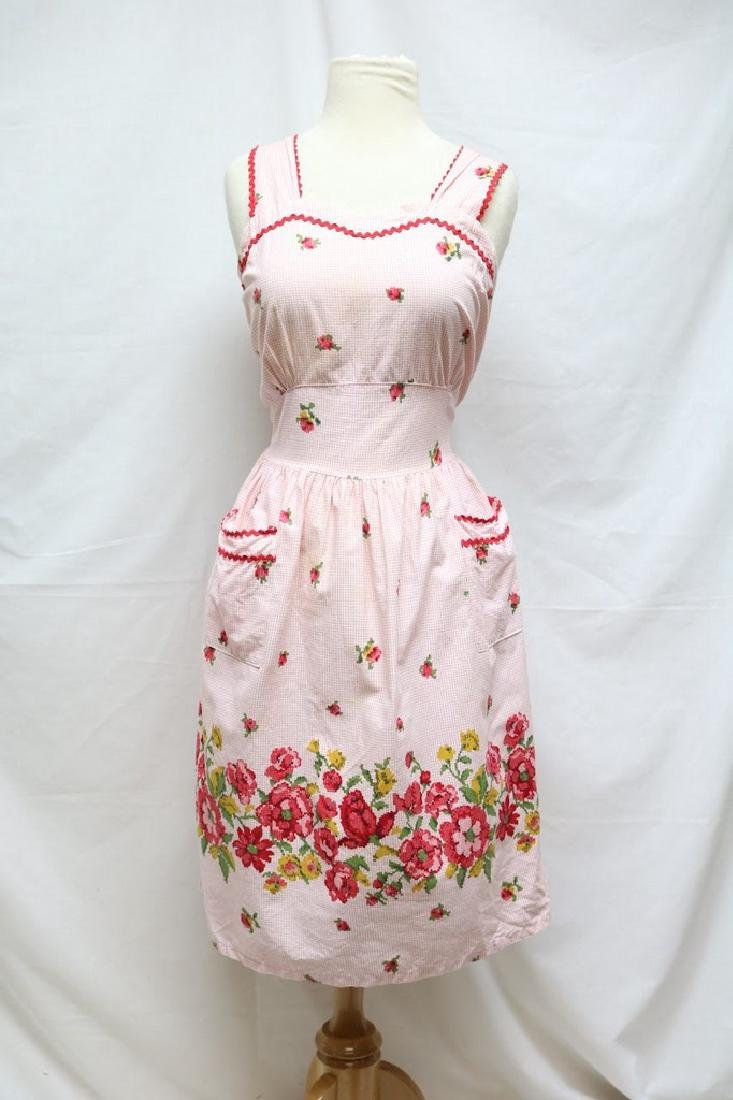1950s cross stitch print dress