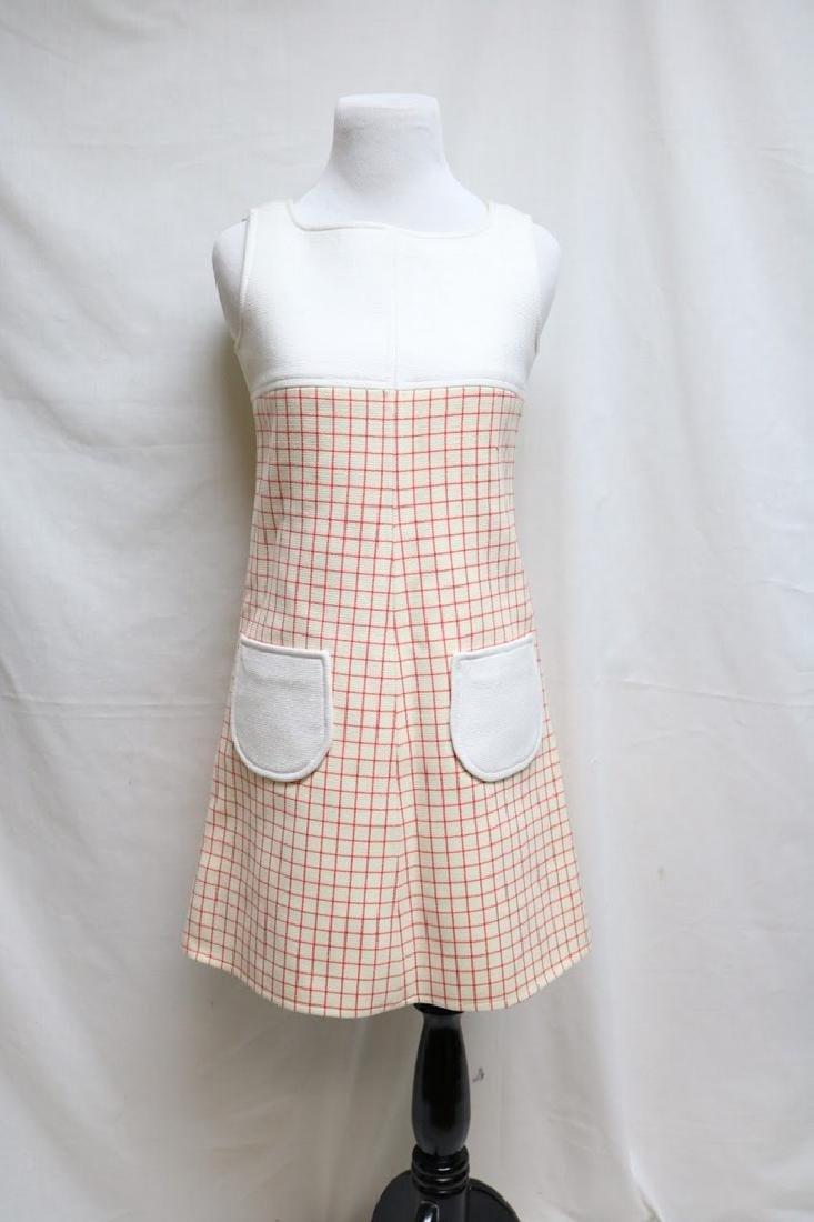 1960s Courreges  mod dress