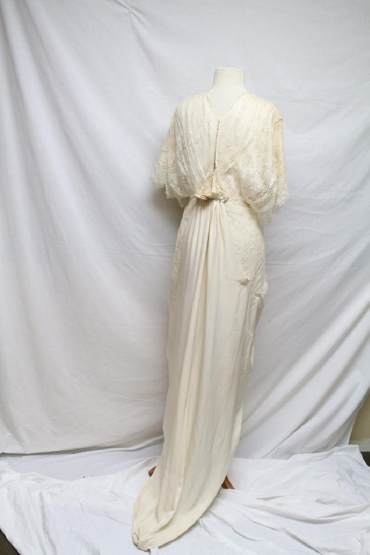 Edwardian Silk & Lace Gown