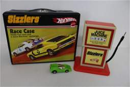 Sizzlers Hot Wheels Case, one red line & Justice