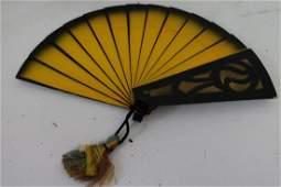 Vintage Magic Trick Wooden Fan