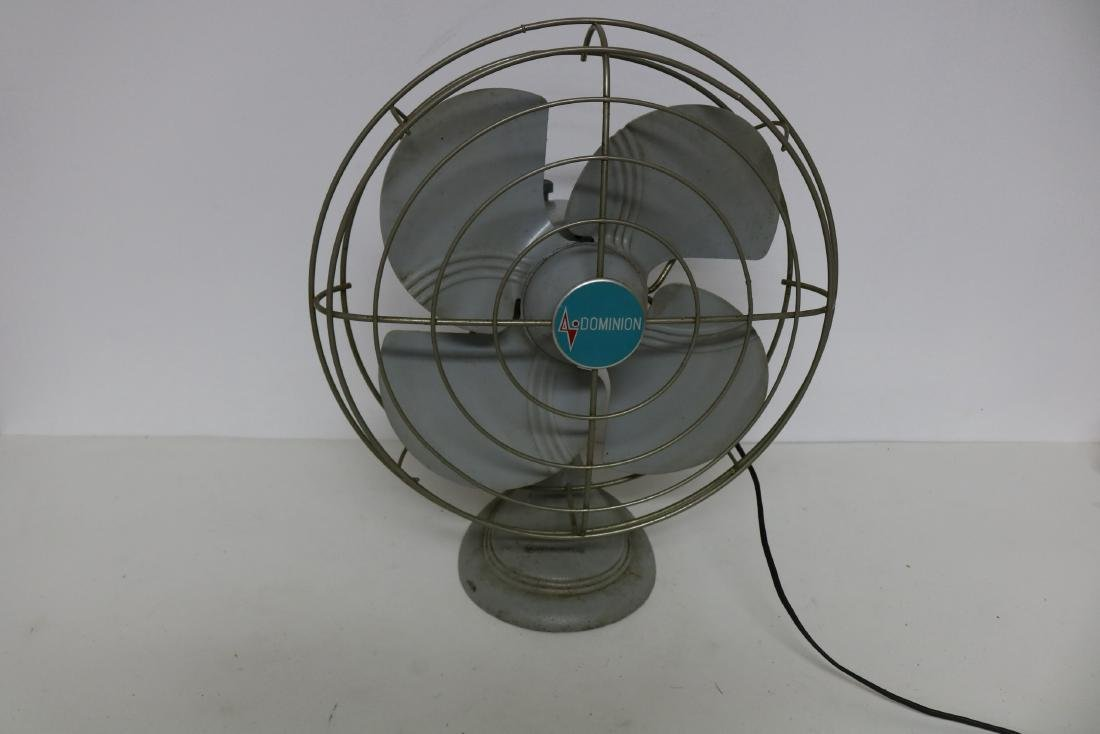 Dominion Electric Vintage Fan, Cast Iron Base