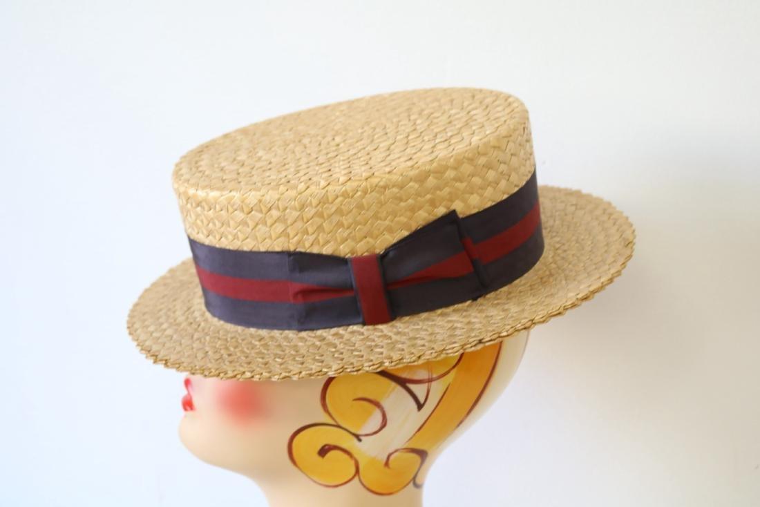 Men's vintage Boater Hat