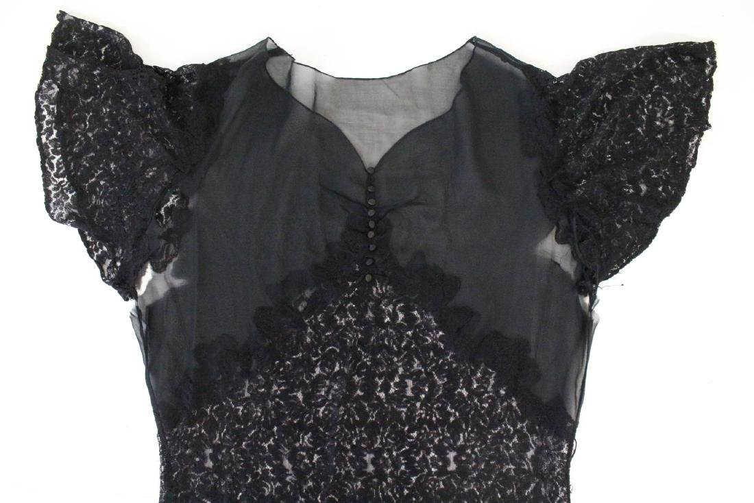1930s Lace/Chiffon Gown