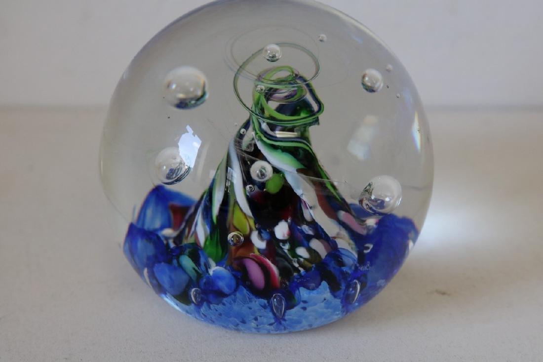 Caithness Myriad Scotland Art Glass Paper Weight - 2