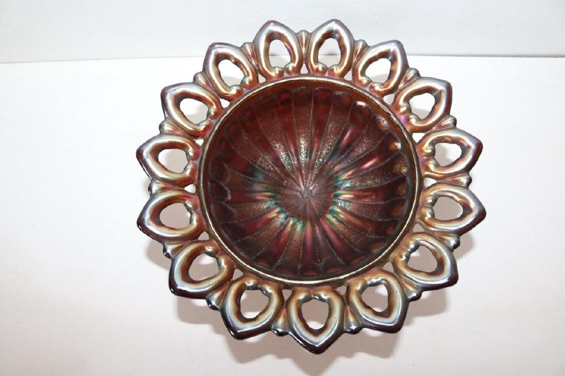 Northwood Carnival Glass Footed Dish/Bowl - 2