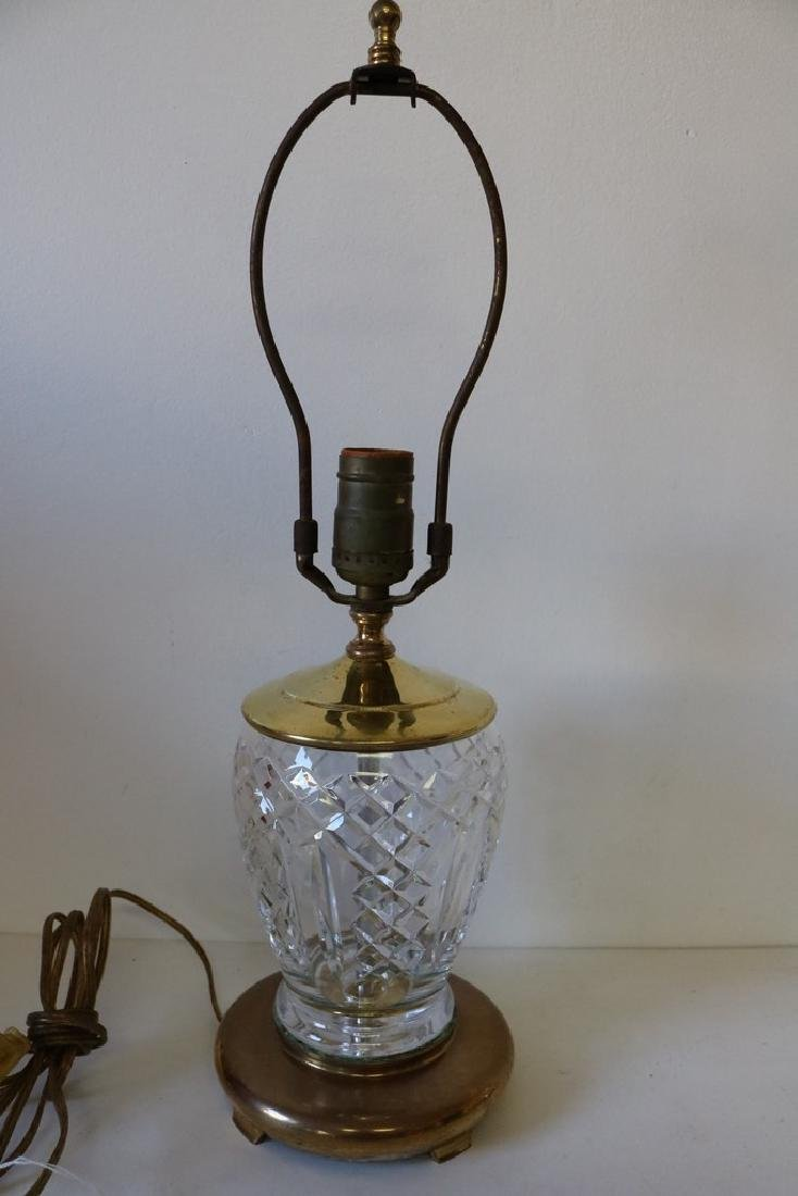 Waterford Crystal Boudoir electric Lamp with Brass